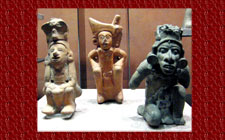 Sculpted images of Xipe Totec, National Museum of Anthropology, Mexico City