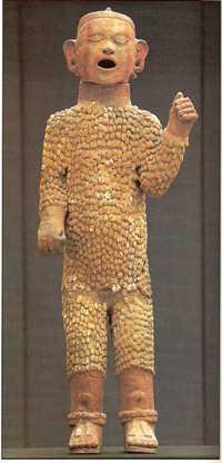 A clay representation of Xipe Totec.