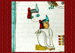 Moctezuma Xocoyotzin in the Codex Mendoza.
