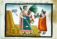 Motecuhzoma Ilhuicamina (Moctezuma I), Tovar Manuscript, plate XII