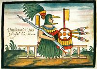 Huitzilopochtli, Tovar Manuscript, plate XIX