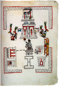 "Tenochtitlan's sacred precinct. From Michael Coe's ""Mexico: from the Olmecs to the Aztecs""."