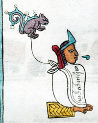 King Ahuitzotl, Codex Mendoza (folio 13r)