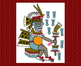 Tlaloc, god of rain ('He who makes things grow'), to whom the Tagetes group of herbs was sacred