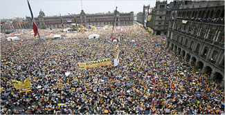 Mass protest rally, Mexico 2006