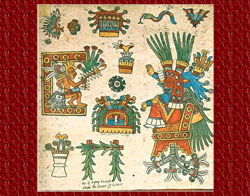 Pic 6: Xochiquetzal in her guise of confessor, Codex Borbonicus