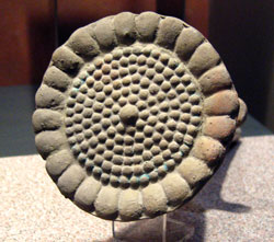 Pic 7: Stone sculpture of a flower representing Xochiquetzal, National Museum of Anthropology, Mexico City