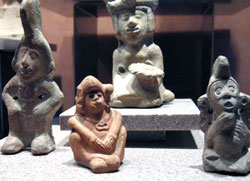 Pic 8: Stone figurines representing aspects of Xochiquetzal, National Museum of Anthropology, Mexico City
