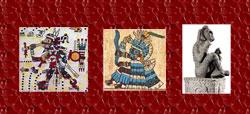 Pic 9: Tezcatlipoca, Tlaloc and Xochipilli (a.k.a. Pilztintecuhtli)