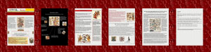 Pic 12: Downloadable 6-page PDF file on Xochiquetzal (original in Publisher), prepared by Julia Flood