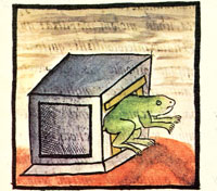 Aztec frog, Florentine Codex Book V