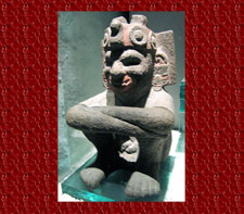 Pic 1: Aztec stone sculpture of Xiuhtecuhtli, Templo Mayor Museum, Mexico City