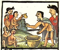 Pic 4: Once a year: children being offered pulque! Florentine Codex, Book II