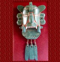 Pic 3: Replica Zapotec jade mosaic bat figure