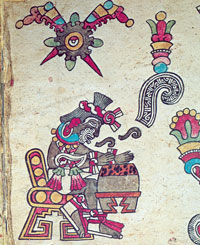Aztec musician-poet-singer, Codex Borbonicus p. 4
