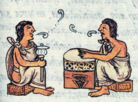 Aztec musicians performing 'flower-songs', Florentine Codex, Book 3