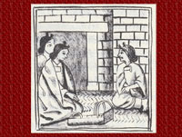 Pic 5: Mother with midwives, Florentine Codex, Book 6