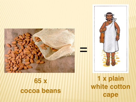 Image result for cocoa beans as currency