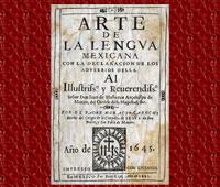 Frontispiece of Carochi's 'Arte de la Lengva Mexicana con la declaración de los adverbios della'
