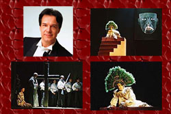 Lorenzo Ferrero and scenes from his opera 'La Conquista', premiered in Prague in 2005