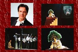 Lorenzo Ferrero and scenes from his opera 'La Conquista', premiered in Prague in 2005