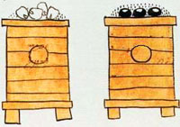 Corn storage bins, Codex Mendoza