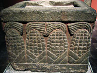 Stone altar dedicated to corn, National Museum of Anthropology, Mexico City