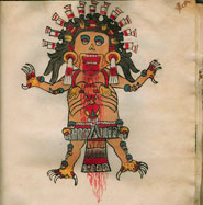 Tzitzimime, or warrior women who died in childbirth, were guardians of the night sky. If the sun did not rise on the first day of a new century, a multitude of Tzitzimime would descend from the heavens and attack the Aztecs. Codex Tudela.