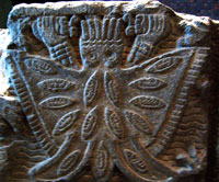 Pic 15: Stone altar of Itzpapálotl ('Obsidian Butterfly'), National Museum of Anthropology, Mexico City