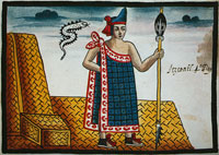 Itzcóatl, 4th ruler of the Aztec empire, Tovar Manuscript, pl. VIII