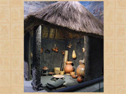Pic 2: SPOT THE PETATE in this museum model of the inside of an Aztec house!