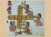 The game of patolli, Codex Magliabecchiano, p. 60