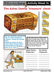 Our Activity Sheet 3c on the family chest