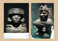 Pic 2: Huehueteotl and Xiuhtecuhtli, National Museum of Anthropology