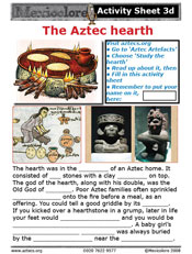 Our Activity Sheet 3d, on the hearth