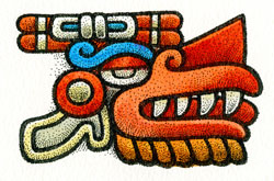 Pic 2: The Aztec glyph for Wind (Ehécatl)