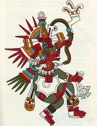 Pic 4: Quetzalcóatl-Ehécatl, from the Codex Borgia (illustration by Miguel Covarrubias)