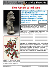 Our Activity Sheet 4a, on the Aztec Wind God