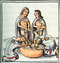 Pic 5: Washing hair; Florentine Codex, Book 2