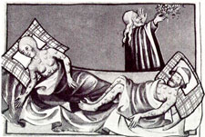 Pic 8: The Black Death - illustration from the Toggenburg Bible, 1411