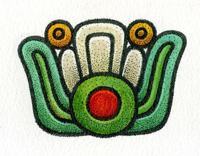 Aztec flower daysign