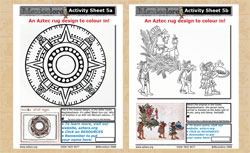 Mexicolore's Activity Sheets 5a and 5b