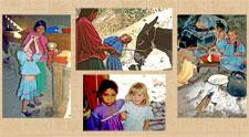 Mariah with Tarahumara friends