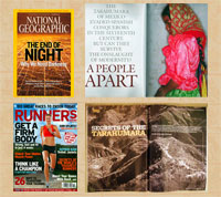 Welcome articles on the Tarahumara in National Geographic Magazine and Runner's World magazine (November 2008)