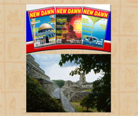 'New Dawn' Magazine; the ancient Maya site of Palenque