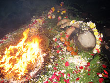 Traditional Maya New Year offerings