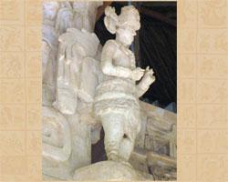 Stone carving of ancient Maya ruler-prophet