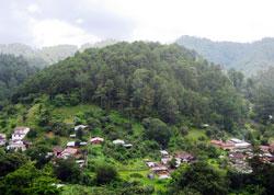 A sacred hill and Maya village, Guatemala