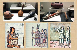 Just two sources of evidence for Aztec musical instruments: artefacts recovered from archaeological sites and pictures from a 16th century manuscript...