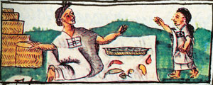 Picture 12: Chilli seller, Florentine Codex Book X